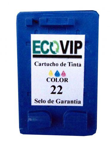 CARTUCHO DE TINTA HP 22 | C9352AB | COLOR  Compatível Novo Ecovip