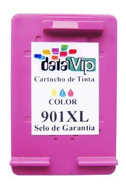 CARTUCHO DE TINTA COMPATÍVEL COM HP 901XL 901 CC656AB COLORIDO | J4580 J4680 J4660 J4500 J4550 Datavip