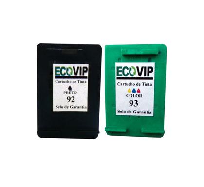 Combo Cartucho Hp 92 + Hp 93 Compatíveis Ecovip