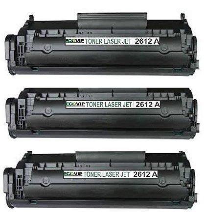 Combo Toner Hp Q2612a Compatível Ecovip