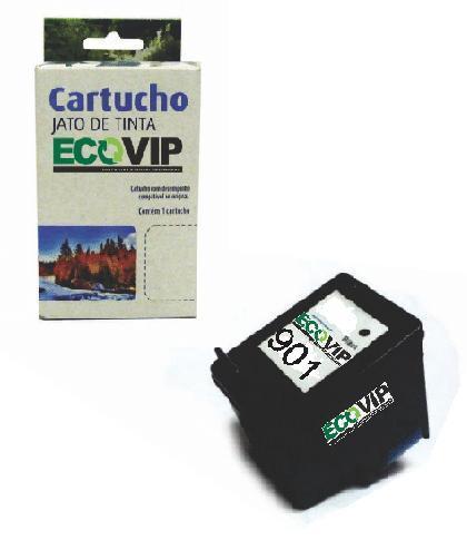 CARTUCHO DE TINTA COMPATÍVEL COM HP 901XL 901 CC654AL CC654AB CC653AB PRETO | OFFICEJET J4660 Ecovip