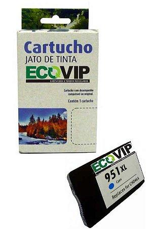 Cartucho Hp 951 Xl Cyan Compatível Ecovip