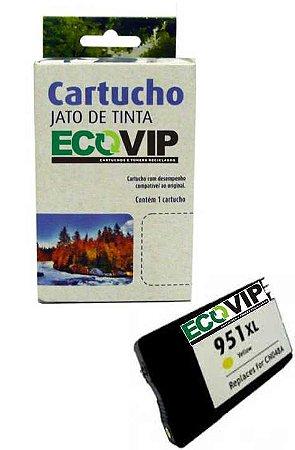Cartucho Hp 951 Xl Compatível Amarelo Ecovip