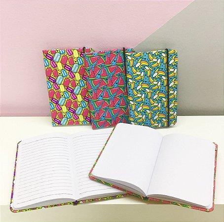 Caderno de Anotações Mini A6 Pautado e Capa Dura