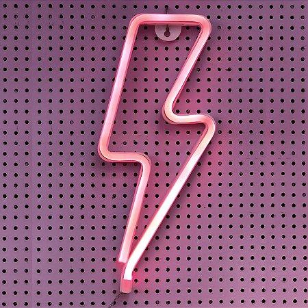 Luminária Raio Neon Led de Parede Pilha