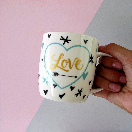 Caneca Cerâmica Love e Joy