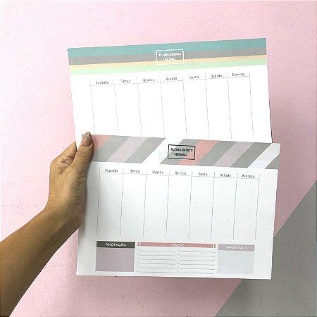 Planner Bloco Destacável - Mensal e Semanal