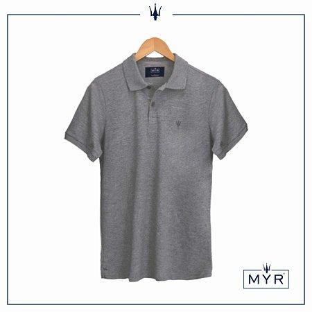 Camiseta Polo - Cinza