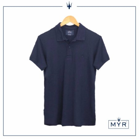 Camiseta Polo - Azul Marinho