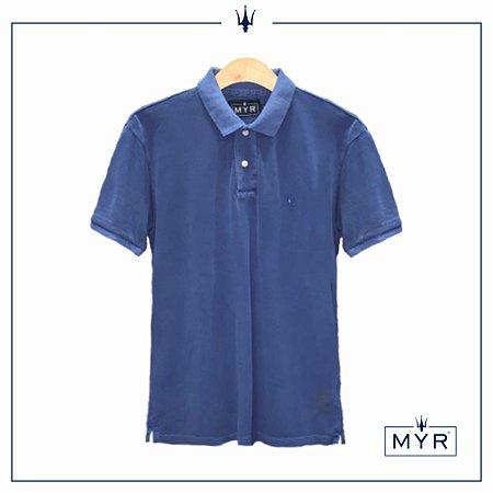 Camiseta Polo - Azul Lavado