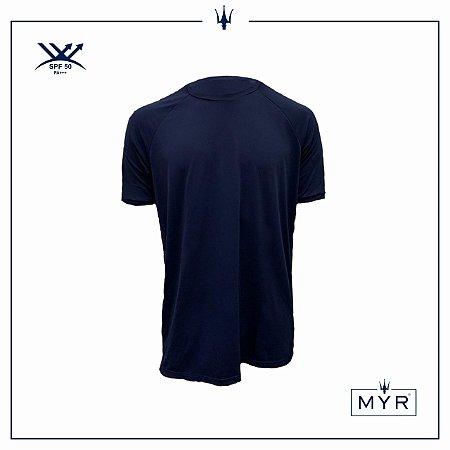 Camiseta UVSKIN azul marinho flamingo