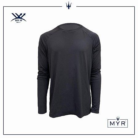 Camiseta UVSKIN manga longa cinza run