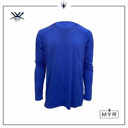 Camiseta UVSKIN manga longa azul bic palm