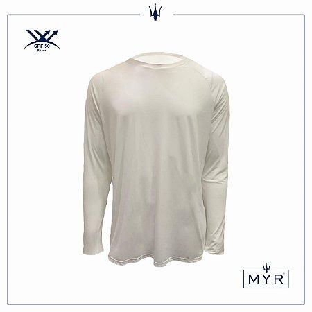 Camiseta UVSKIN manga longa branca run