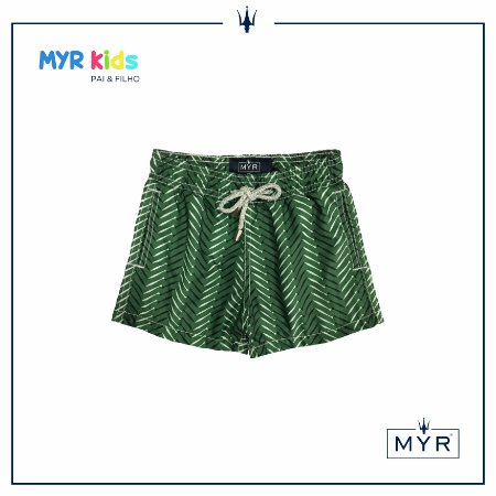 Short Infantil - Little Fish Green