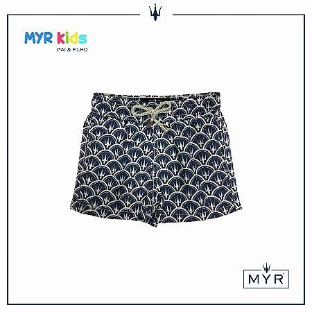 Short Infantil - MYR Marinho e Branco