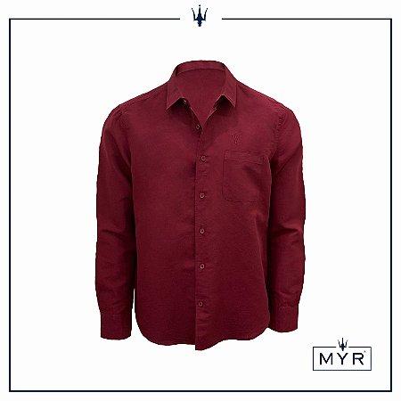 Camisa de linho vinho