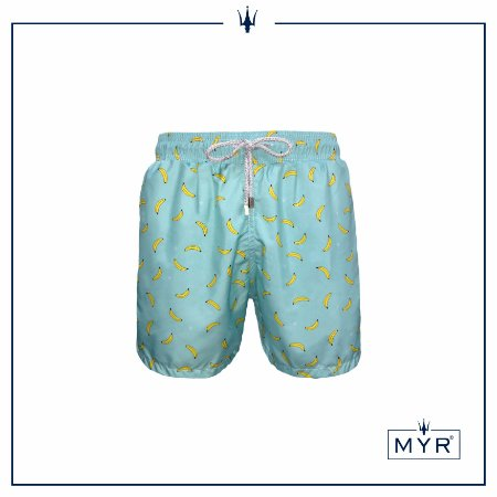 Short Comprido Est. - Banana Green & Yellow