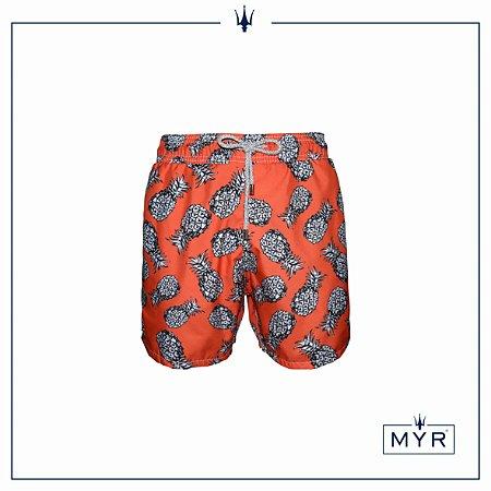 Short curto est. - Pineapple Orange&Black