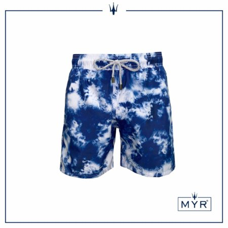 Short curto est. - Tie dye Blue