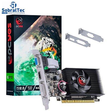 Placa de Vídeo PcYes G210 1GB / DDR3 - (PA210G6401D3LP)