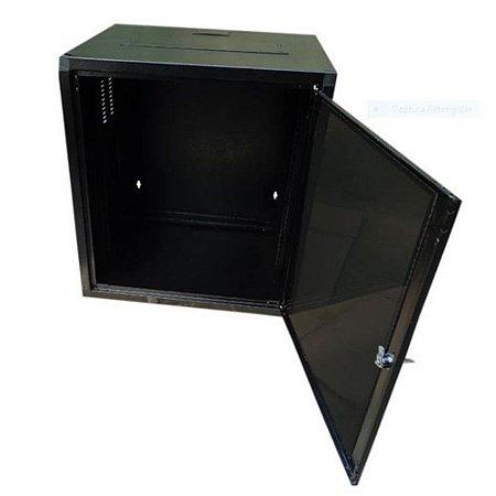 Mini Rack De Parede 6u X 470mm - Standard 19 Preto