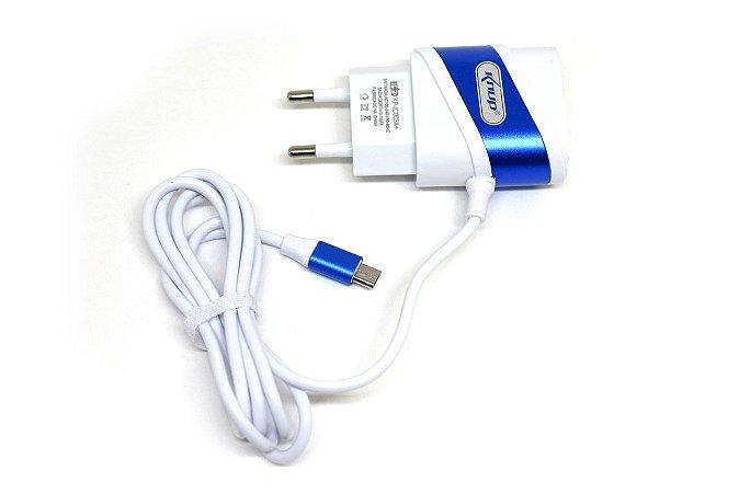 Carregador de Celular Micro Usb 3.1A Knup KP-IC003A Com 2 Portas Usb
