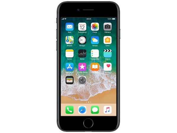 "iPhone 7 Apple 32GB Preto Matte 4G Tela 4.7""Retina - Câm. 12MP + Selfie 7MP iOS 11 Proc. Chip A10-Usd"
