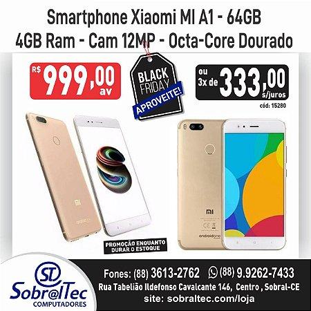 Smartphone Xiaomi MI A1-64GB -4GB Ram Cam 12MP -Octa-Core Dourado