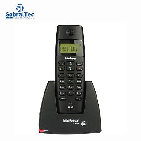 Telefone Sem Fio Com Dect e Identificador De Chamadas Intelbras TS40ID