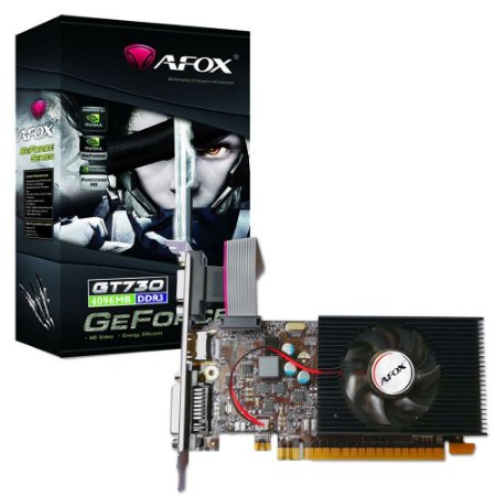 Placa de Vídeo Afox GT-730 4GB DDR3 / 64BIT / HDMI / DVI / VGA (AF730-4096D3L5)