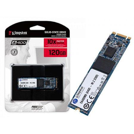SSD M.2 Kingston A400 120GB Leitura 500MB/s Gravação 320MB/s SA400M8/120G