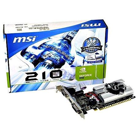 Placa de Vídeo MSI GeForce N210 1GB DDR3 PCI-Express
