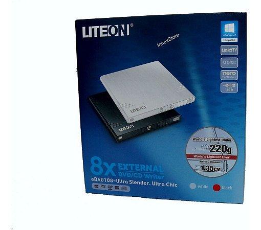 Gravador Externo Dvd USB Ultra Slim Liteon Es1