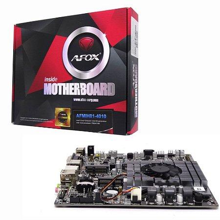 Placa Mãe Mini Itx Afox AFMIJ1800-2L com Intel Celeron J1800 - Ate 1 DDR3