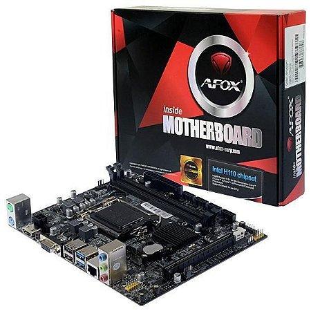 Placa Mãe Micro ATX Afox IH110-Ma Socket LGA 1151  Ddr4- 2 Slot