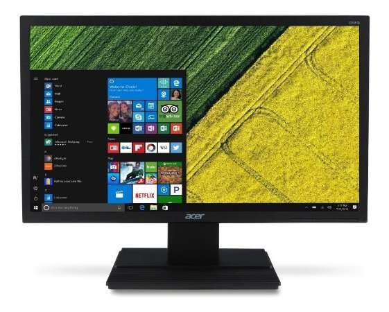 "Monitor Acer 19.5"" Led Widescreen Hdmi Preto V206HQL _Usd"