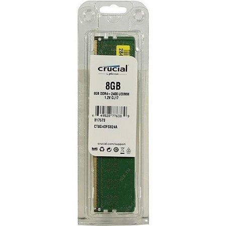 Memória Ram Desktop Ddr4 8GB 2400MHZ Crucial CT8G4DFS824A