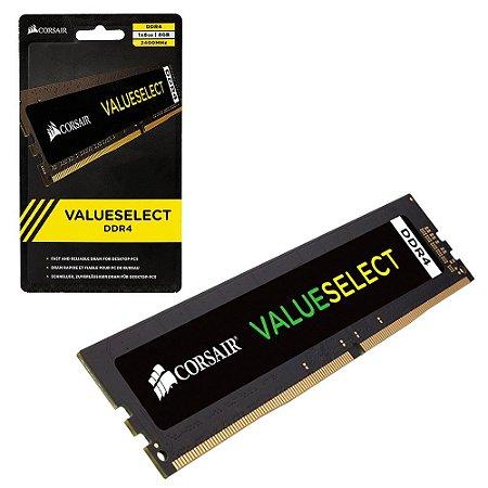 Memória Ram Desktop Corsair 8gb Ddr4 2400mhz Value Cl16 Cmv8gx4m1a -2400c16