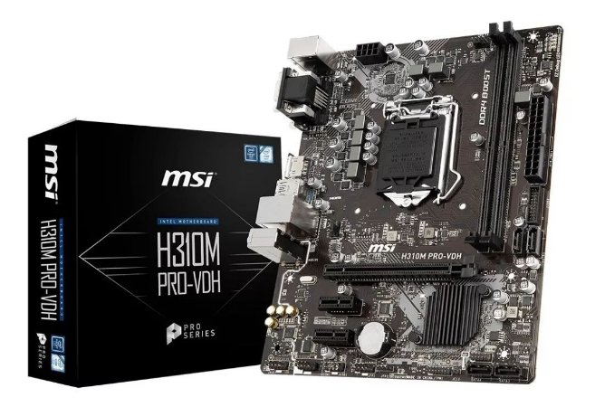 Placa Mãe Msi H310m Pro-Vdh Intel 1151 Ddr4 Chipset H310
