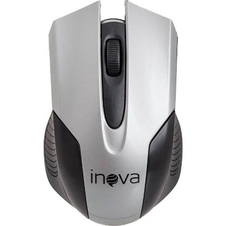 Mouse Óptico Sem Fio Wireless 2.4ghz Mou-7042 Inova Prata