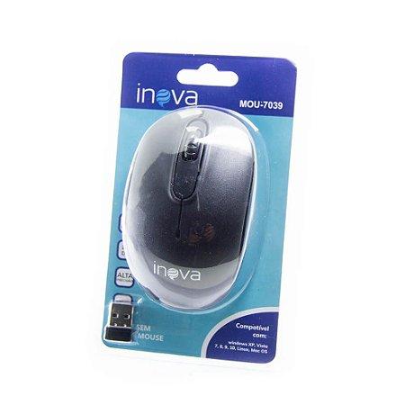 Mouse Óptico Usb Sem Fio Inova Mou-7039- Varias Cores