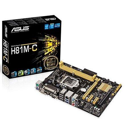 Placa Mãe Asus Ddr3 Intel H81M C/BR Lga 1150 Box