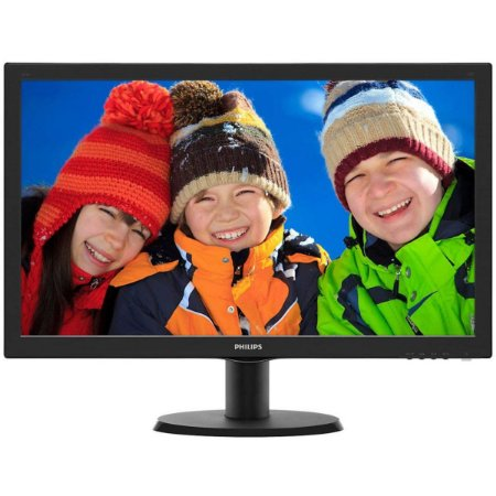"Monitor Lcd Led 23,6"" Philips Full HD Wide Hdmi Dvi Preto 243v5qhAba"