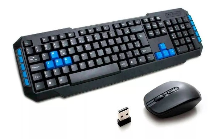 Kit Teclado e Mouse Wireless 2.4 Ghz Wb-8033 Veibo