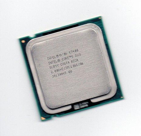 Processador Intel Core 2 Duo E7400 3M Cache 2.80 GHz 1066 MHz FSB