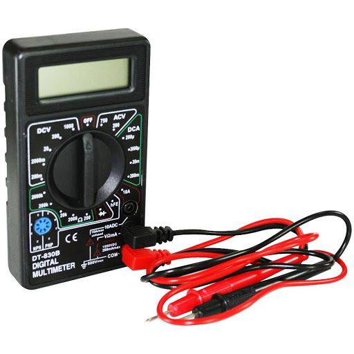 Multímetro Digital Snauzer Dt830b Profissional Portátil - Preto