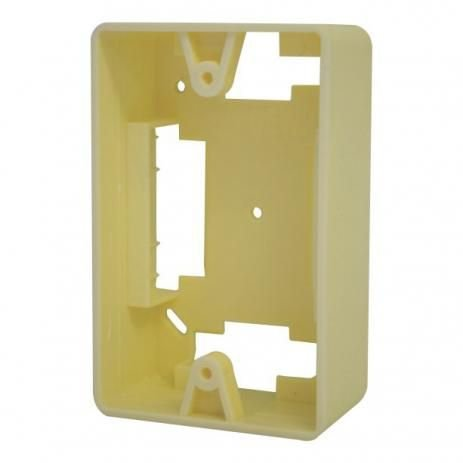 Caixa De Sobrepor Duto X 4x2 Pvc Creme Para Elétrica Rede