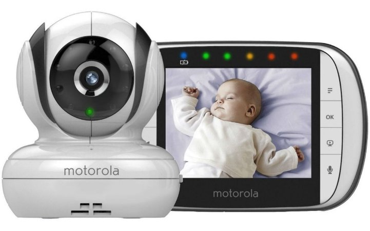 "Babá Eletrônica Mbp-36S - Tela 3,5"" Visão Noturna -Giratória- Motorola"