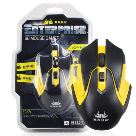 Mouse Gamer Usb 6d Enterprise Knup - Kp-v25